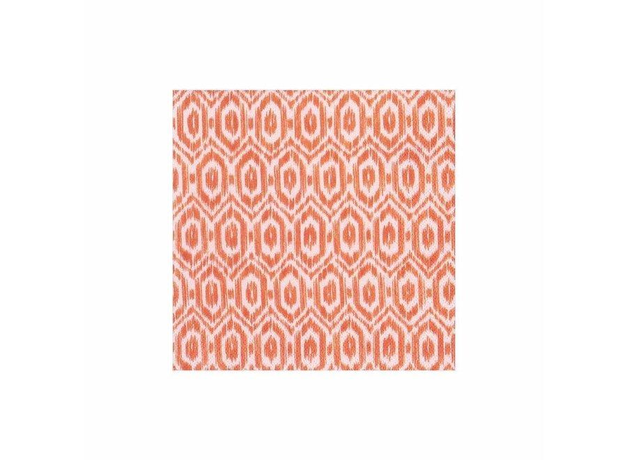 Amala Ikat Paper Cocktail Napkins in Orange - 20 Per Package