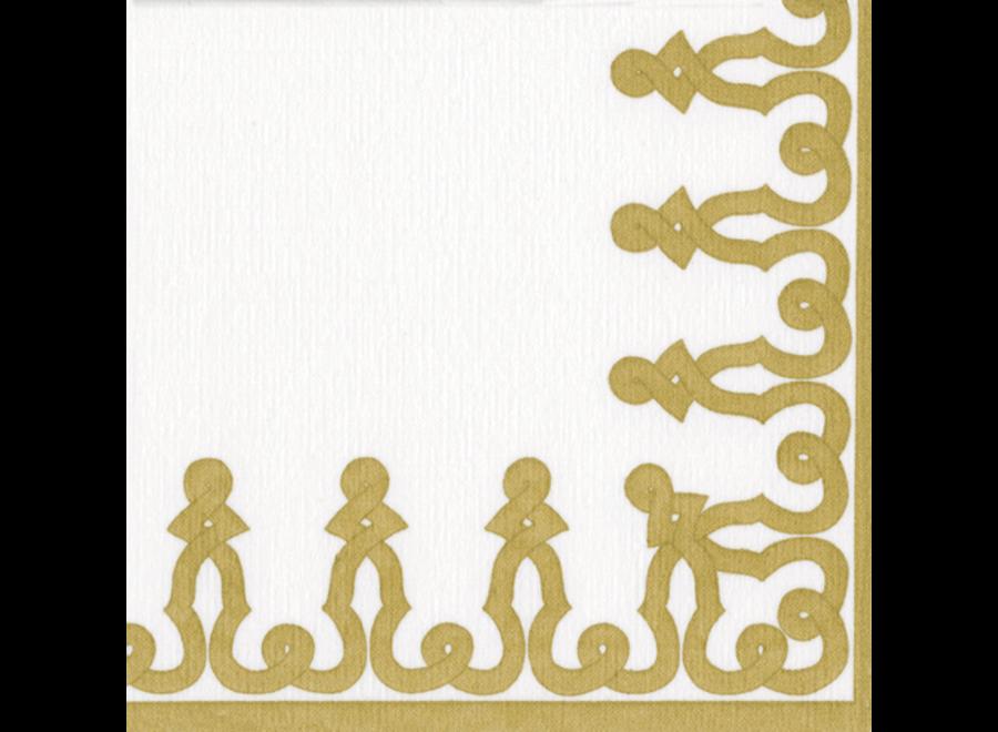 Dessin Passementerie Gold Dinner Napkins - 12 Per Package