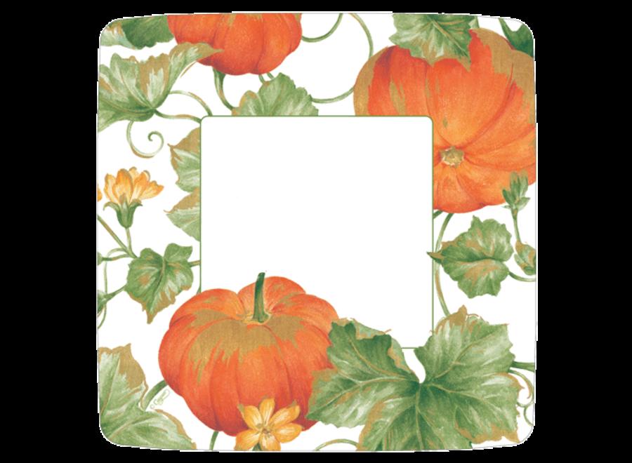 Plate Salad Heirloom Pumpkins Ivory