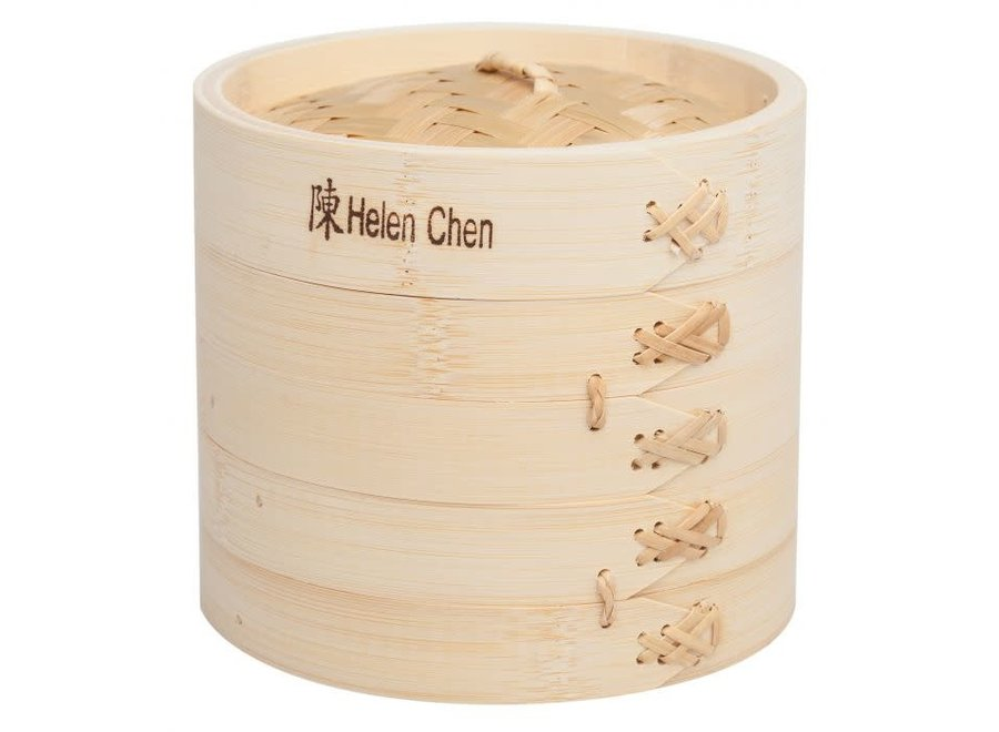 Helen's Asian Kitchen Bamboo Steamer with Lid, 6in, 3 Piece Set