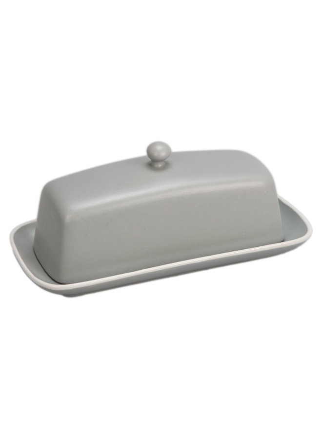 Covered Butter Dish Stone