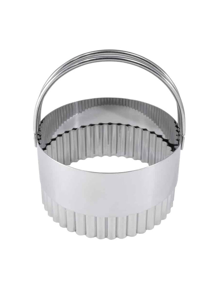 """Biscuit Cutter Fluted S/S 3.25"""""""