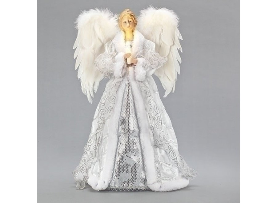"20"" LED Angel w/ Candle Tree – Topper: Battery Operated / Included"
