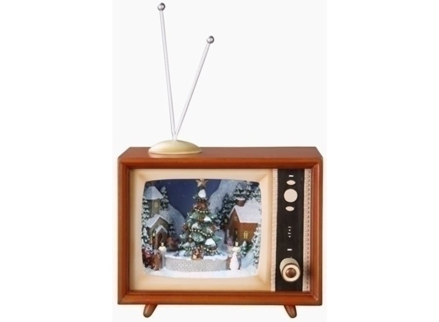 """4.5"""" Musical LED TV w/ Sleds Rotating Batteries Included"""