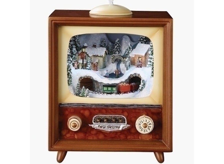 "5.5"" Musical LED TV, Train In Tunnel Rotating Batteries Included"