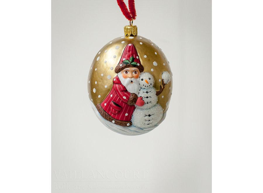 Jingle Balls™ Santa with Snowman