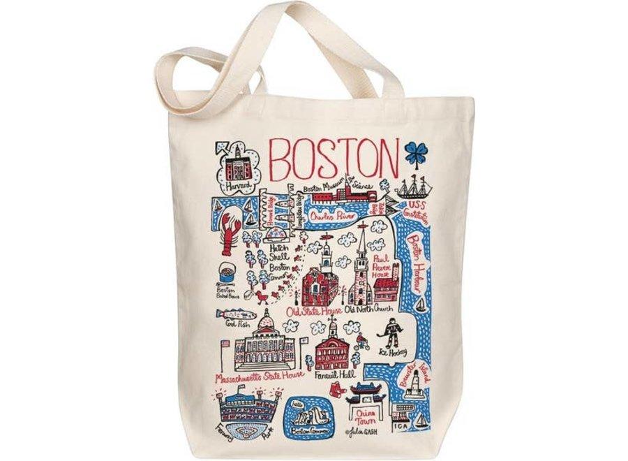 Boston Map Art Tote