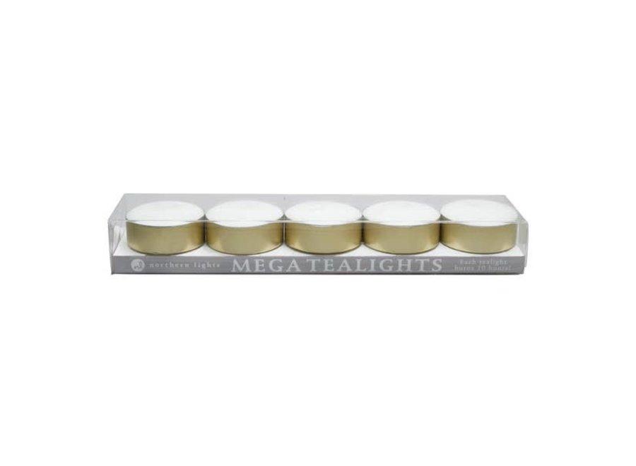 Mega Tealights - 5pc Box
