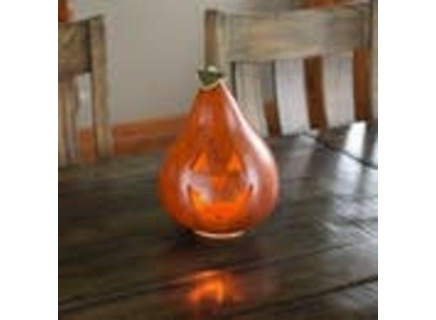 Traditional Jack Medium Jack-o-lantern Hand-crafted Gourd