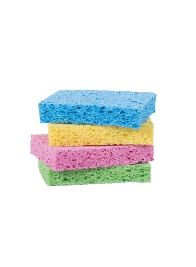 Colored Pop Up Sponge Set of 4