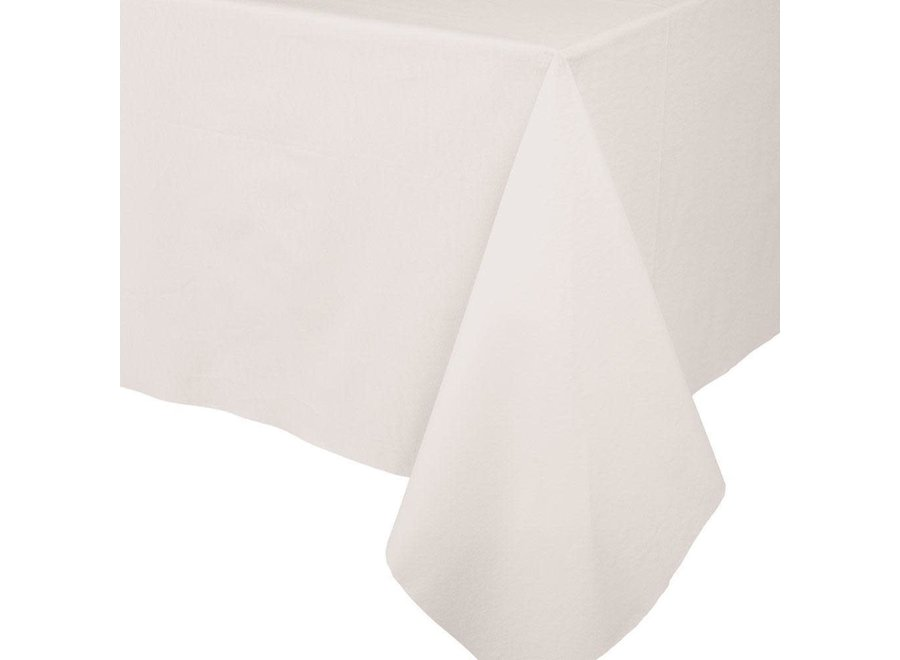 Paper Linen Solid Table Cover in Ivory - 1 Each