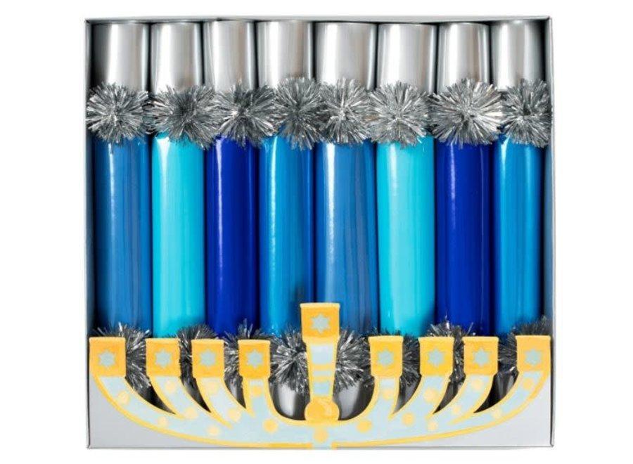 Hanukkah Candles Celebration Crackers - 8 Per Box
