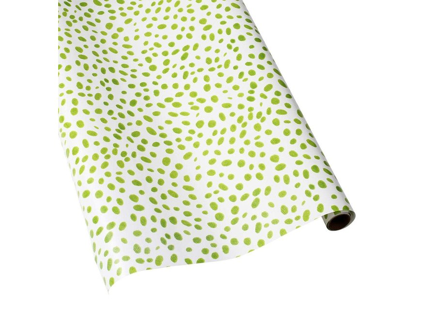 "Spots Gift Wrapping Paper in Green - 30"" x 5' Roll"
