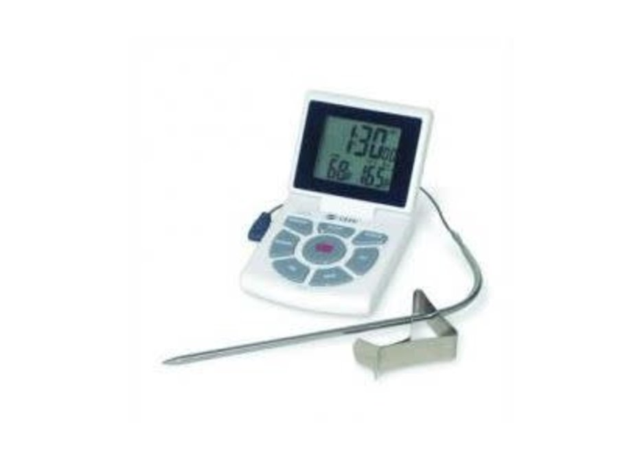 Probe Thermometer, Timer & Clock Combo - White