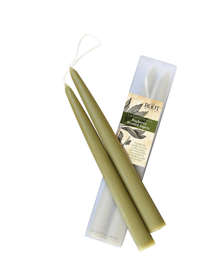 """9"""" Bayberry Scented Taper Candles"""