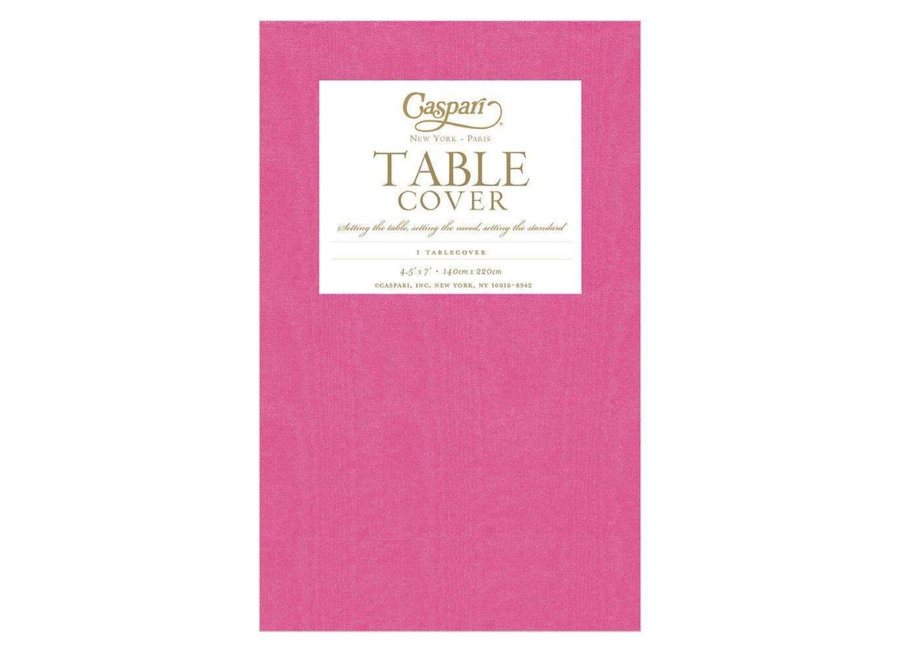 Moiré Paper Table Cover in Fuchsia - 1 Each