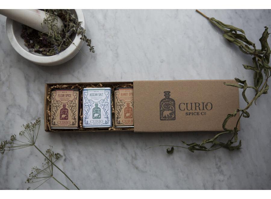 3 Tin Gift Set  ~ Fleur Spice, Aegean Salt, Kandy Spice