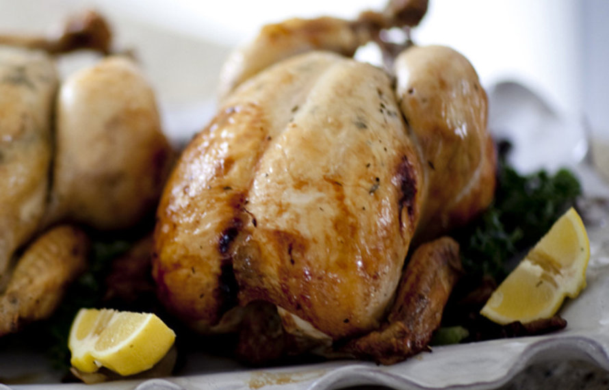 Roasted Chicken with Rosemary, Lemon, and Garlic