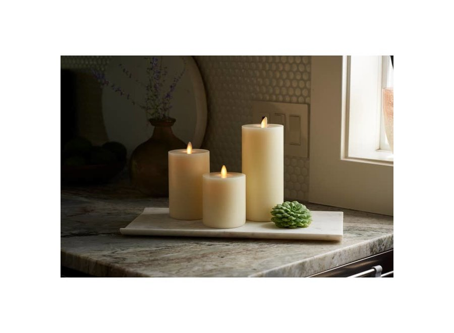 "LightLi Touch On/Off Moving Flame 3"" x 4.5"" Pillar LED Candle"