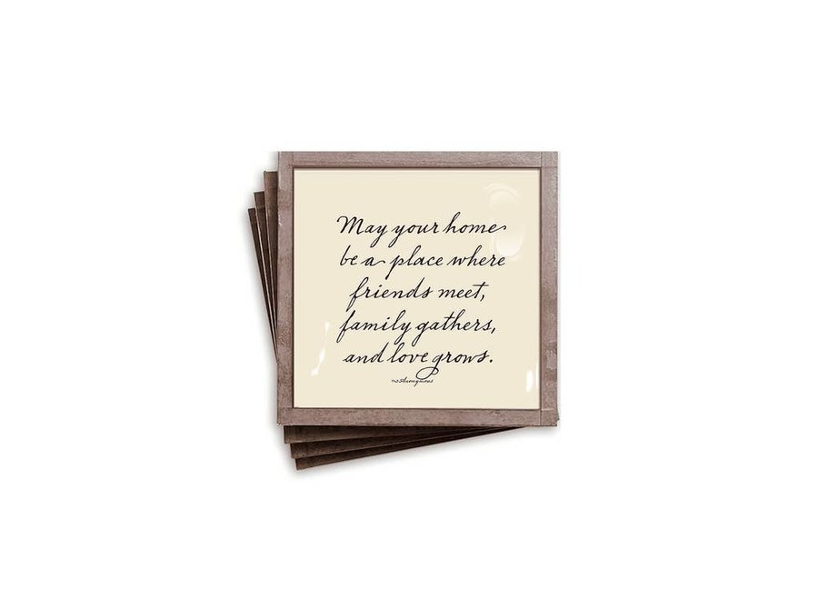 May Your Home Copper & Glass Coasters