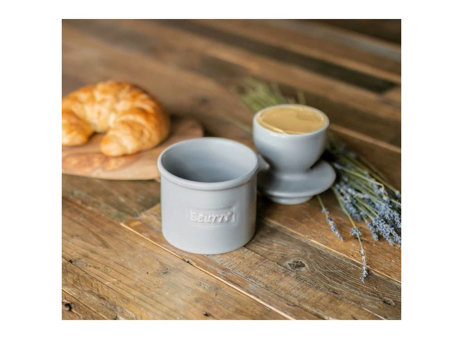 Café Matte Collection Butter Bell Crock - Stone Matte