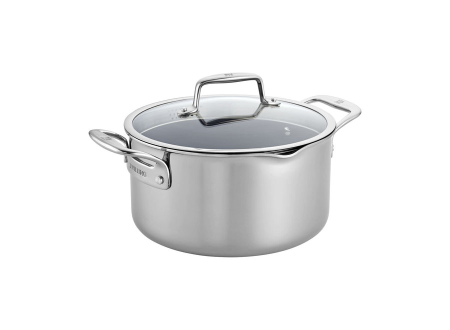 Clad CFX 6-qt Stainless Steel Ceramic Nonstick Dutch Oven