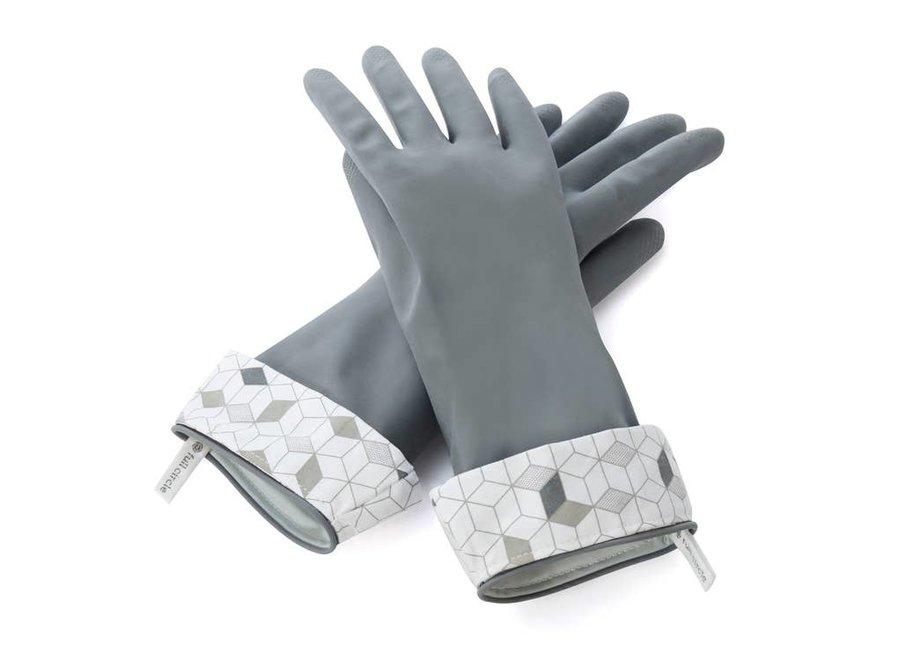 Splash Patrol Natural Latex Cleaning Gloves - Gray | Medium