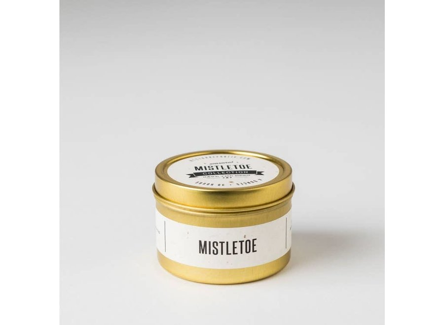 Mistletoe: Travel Tin Candle