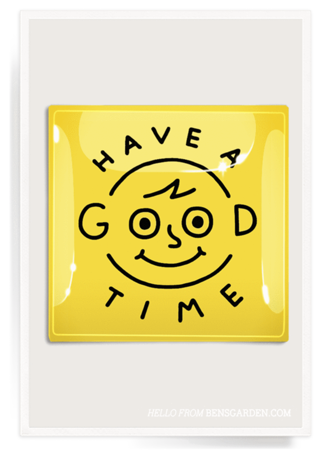 """Have A Good Time Decoupage Glass Tray  6""""X 6"""""""