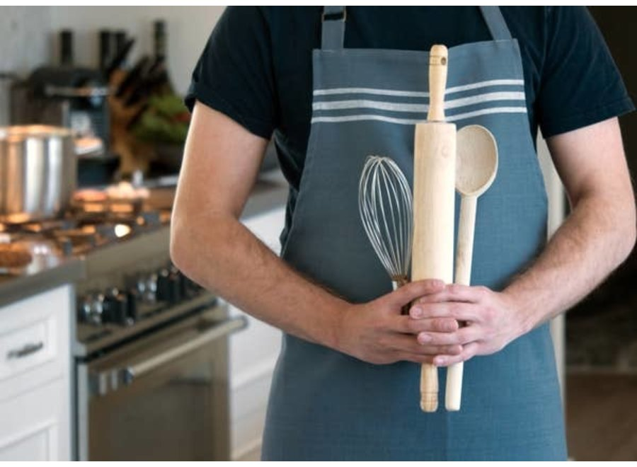 Christopher Kimball's Milk Street Apron - French Stripe Bering Sea
