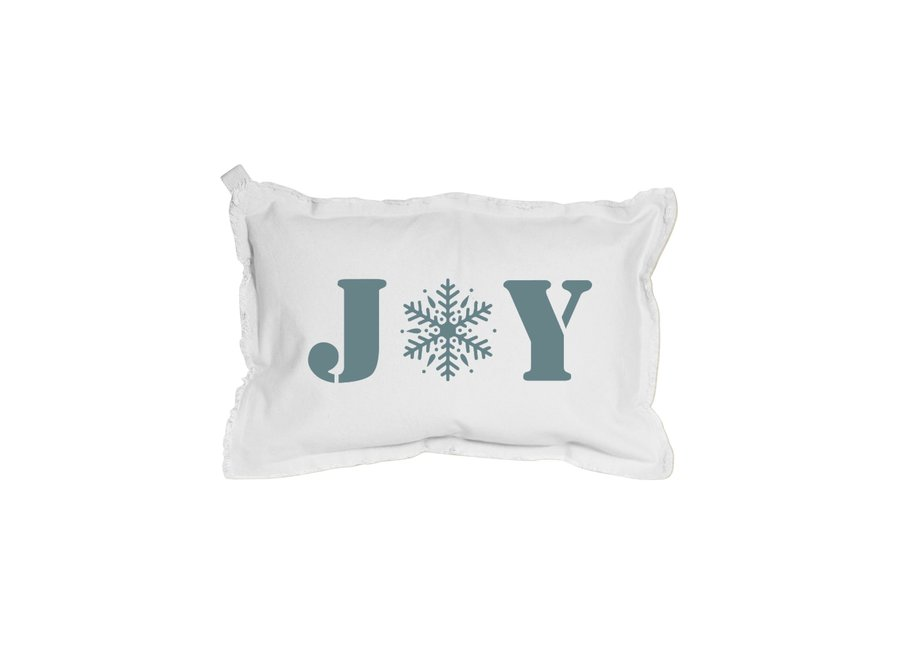 "12"" x 18"" Pillow White Rectangle JOY Snowflake"