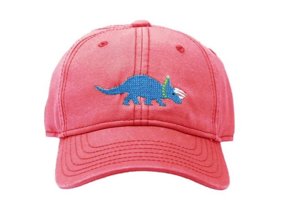 Kids Triceratops on Weathered Red Hat