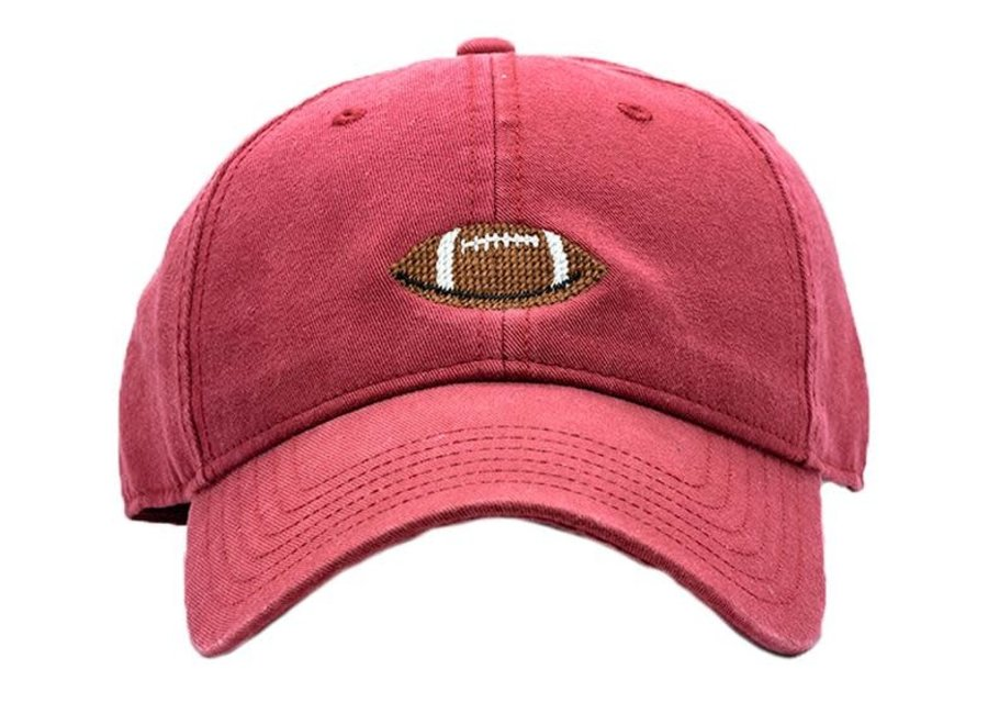 Kids Football on Weathered Red Hat