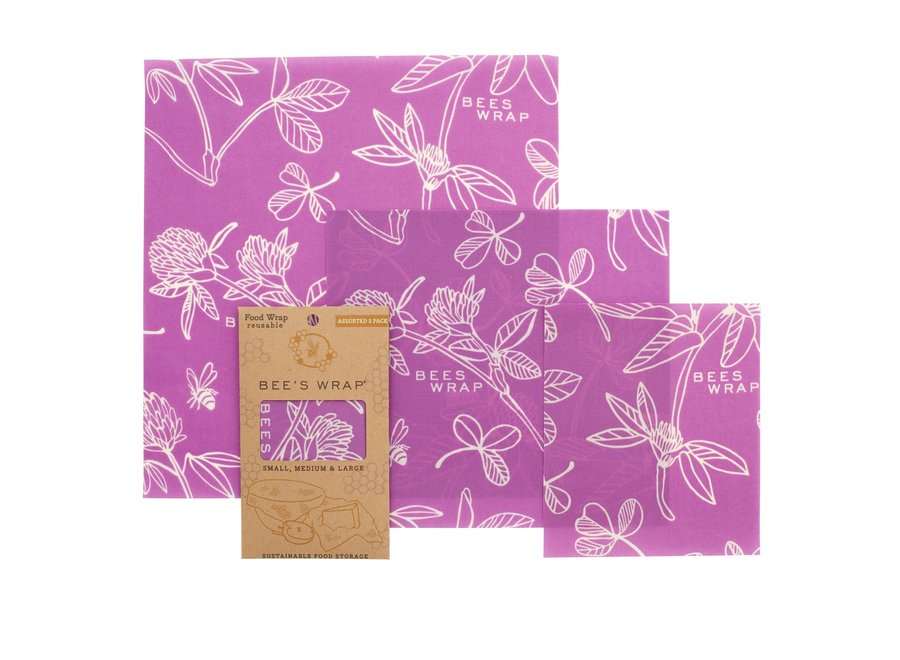 Assorted Sizes in Clover Print - Pack of 3