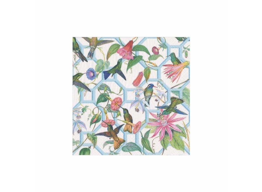 Hummingbird Trellis Paper Cocktail Napkins - 20 Per Package