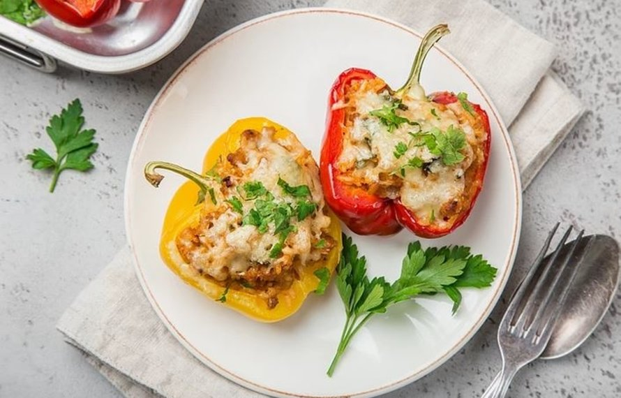 Valentine's Day Mexican Stuffed Peppers