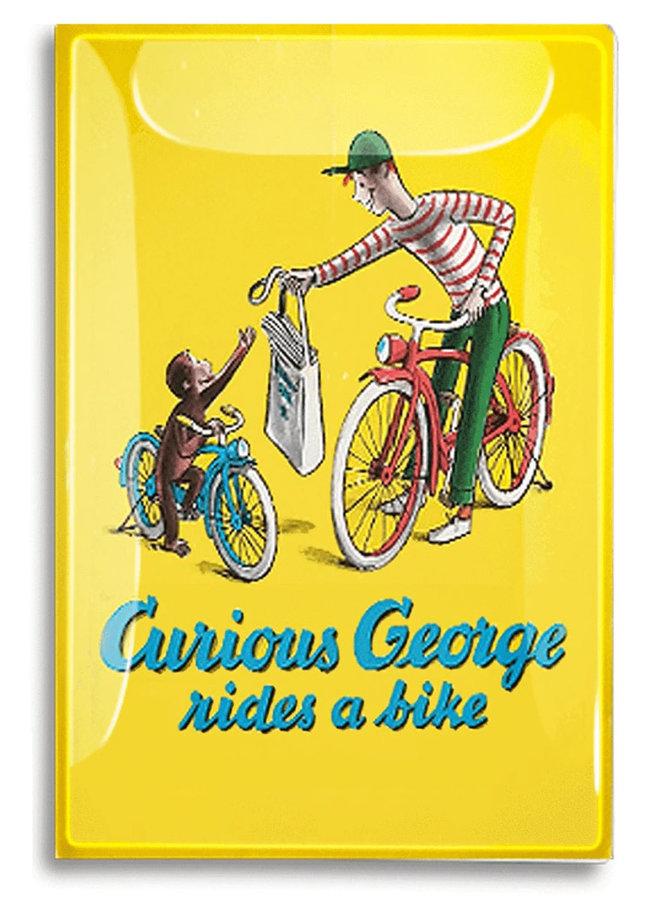 "Curious George Book Jacket Decoupage Mini Tray 3.5""x5.5"""