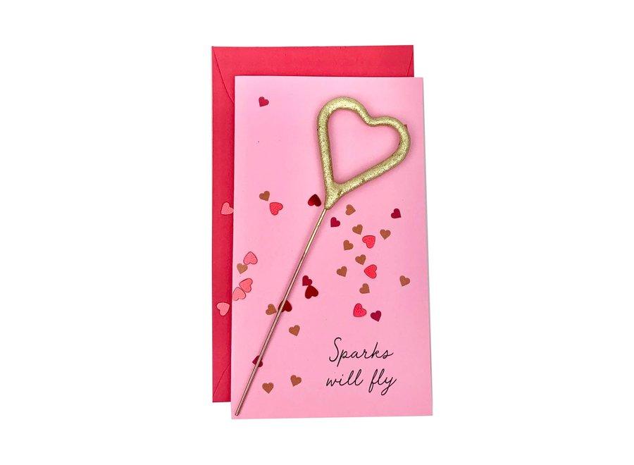 Confetti Sparkler Card Sparks Will Fly!