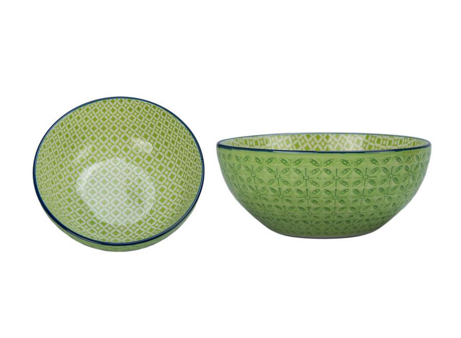 "Bowl ""Astrid"" Green 6"" x 2.5"" / 23 oz."