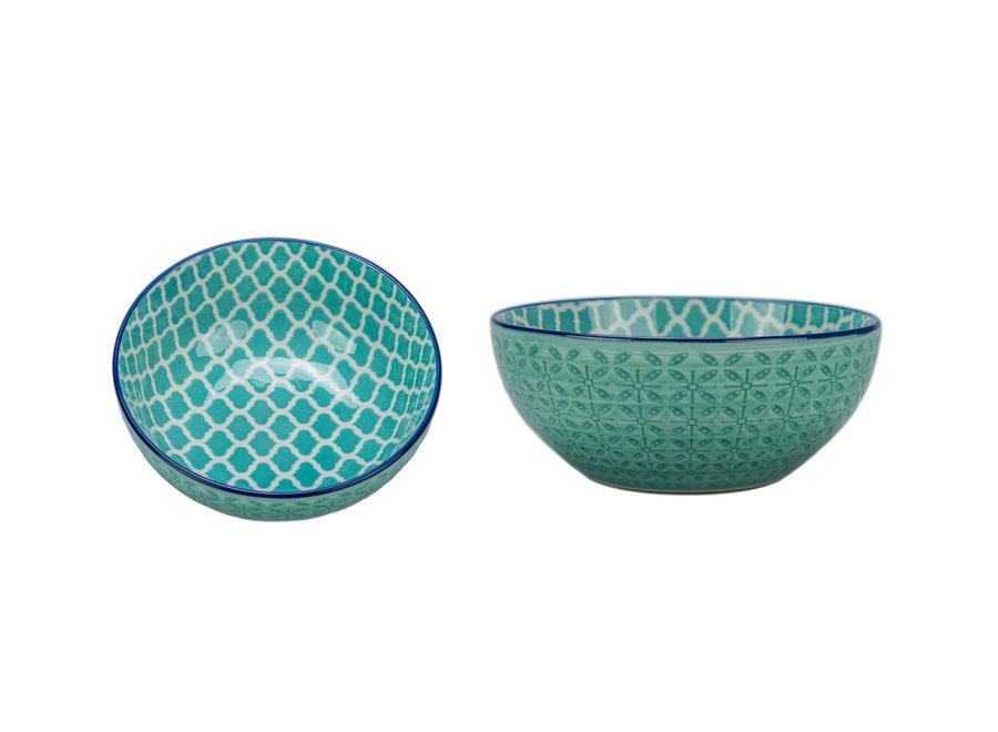 """Bowl """"Astrid"""" Turquoise 6"""" x 2.5"""" / 23 oz."""
