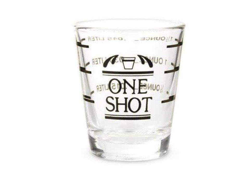 Bullseye Measured Shot Glass