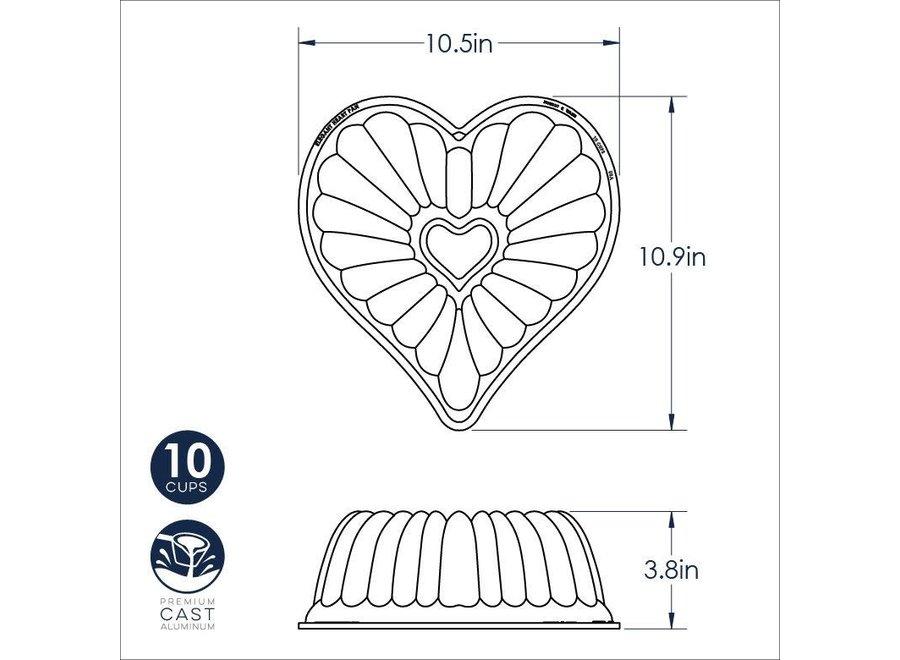 Elegant Heart Bundt® Pan 10 cup