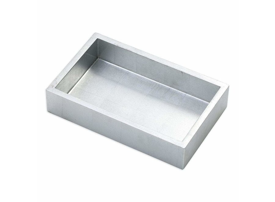 Lacquer Guest Towel Napkin Holder in Silver - 1 Each