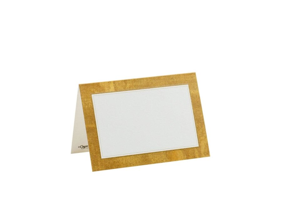 Gold Leaf Place Cards - 10 Per Package