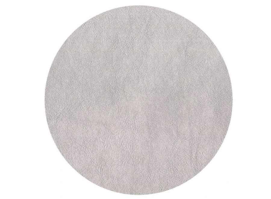 Leather Felt-Backed Placemat in Silver - 1 Each