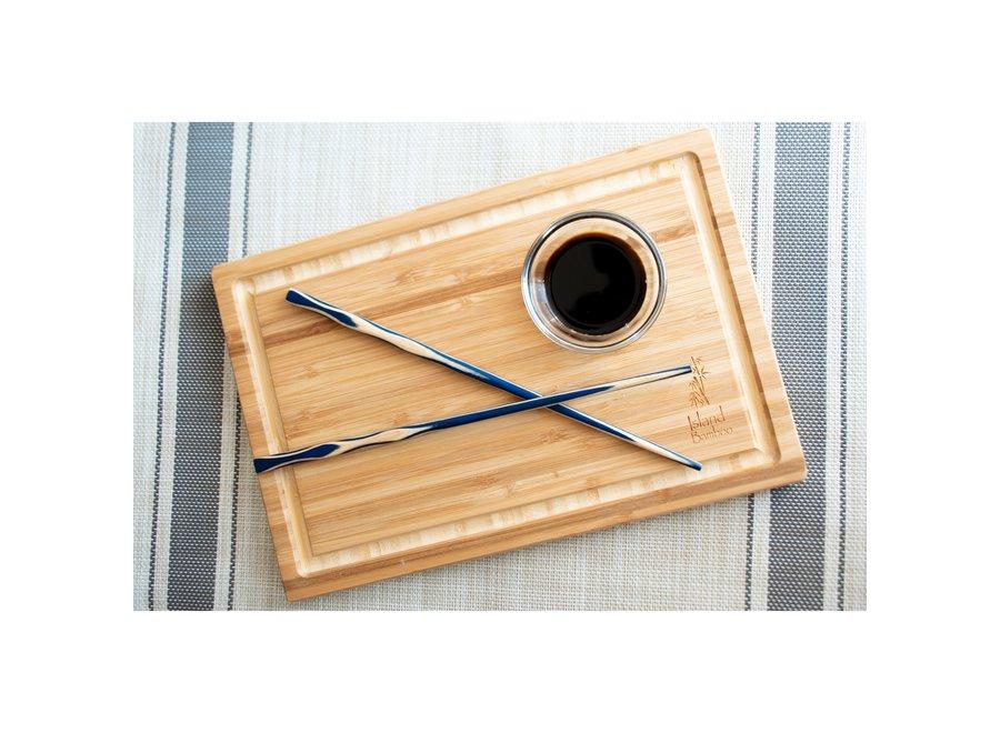 "12"" Blue Pakka Chopsticks - 2 Pair"