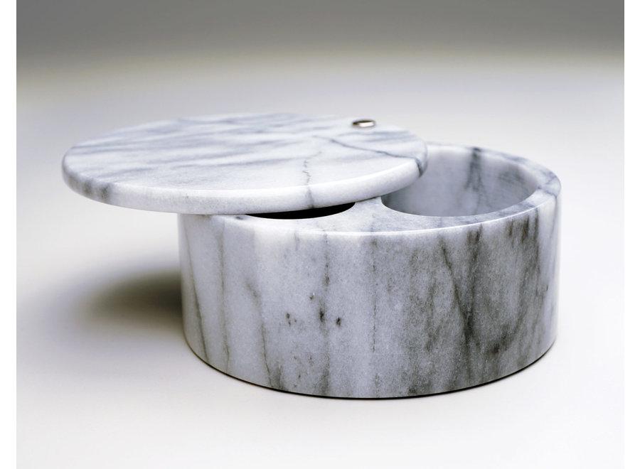 Swivel Top Salt Box - White Marble