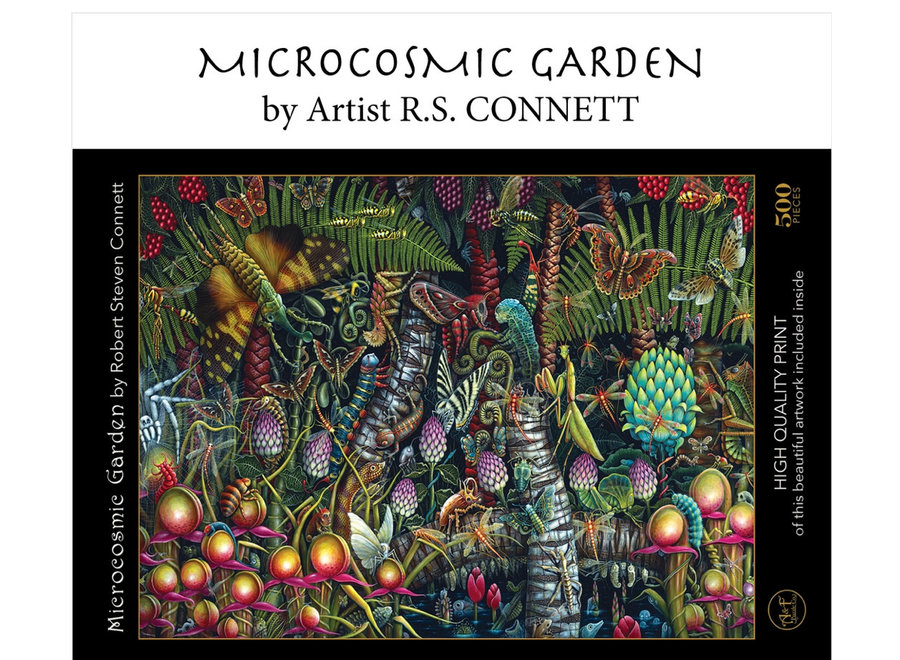 "Microcosmic Garden; 500-pc ""Velvet-Touch"" Jigsaw Puzzle"