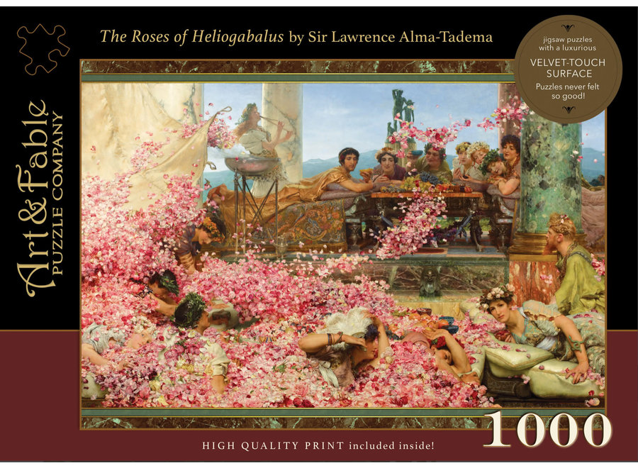 The Roses of Heliogabalus, 1000-pc Velvet-Touch Puzzle
