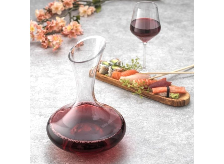 Lancia Crystal Wine Decanter 54 oz Red wine Carafe